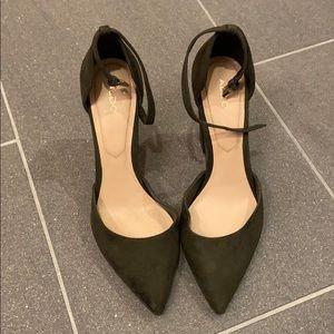 Aldo dark green suede heels. Size 8.5.